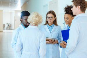 Students In A Medical Externship Program