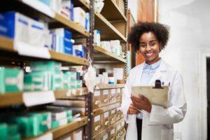Medical Staff Member Near Pharmaceuticals
